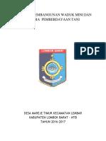 PROPOSAL WADUK MINI SENTRA PEMBERDAYAAN TANI_LOBAR-NTB-1