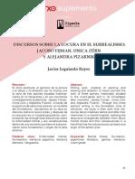 Izquierdo Reyes, J. Discursos Sobre La Locura en El Surrealismo. Fijman, Zürn y Pizarnik