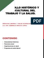 Desarrollo Histórico y sociocultural del trabajo y la