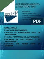 PRINCIPIOS DE MANTENIMIENTO PRODUCTIVO TOTAL-TPM