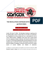 Carl Cox Pr the Revolution Continues - LINE UP CONFIRMED 20100603 FOEM