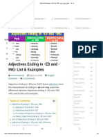 Adjectives Ending in -ED and -ING_ List & Examples - 7 E S L