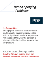 5 Common Spraying Problems