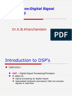Introduction to DSP'