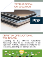 IMPACT OF TECHNOLOGICAL CHANGES ON  EDUCATION.pptx