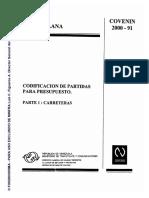 NORMA COVENIN 2000-91 CARRETERAS PARTE I CODIFICACIONDE PART.pdf