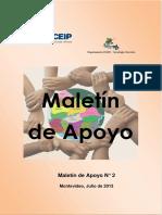 Segundo Maletín de Apoyo (julio 2013)