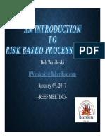 Risk Based Process Safety Presentation 2017