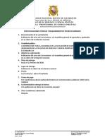 formatio de especificaciones tecnicas TDR publicacion