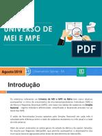 Universo de MEI E MPE - Agosto 2019