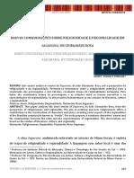 Breve Considerações Sobre Religiosidade e Regionalidade Em Sagarana de Guimarães Rosa