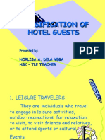 CLASSIFICATION OF HOTEL GUESTS