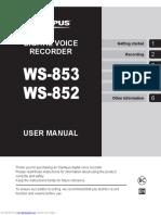Olympus WS-853 User Manual