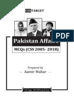 PA MCQs (CSS 2005-2018)