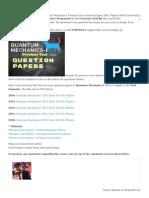 Quantum Mechanics-I Previous Year Question Papers [Msc Physics Delhi University]