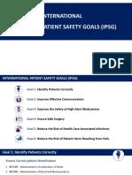 INTERNATIONAL PATIENT SAFETY GOALS (IPSG )