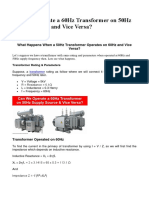Can We Operate a 60Hz Transformer on 50Hz Supply Source and Vice Versa