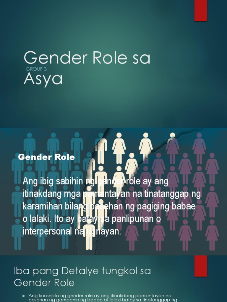 Gender Role sa Asya