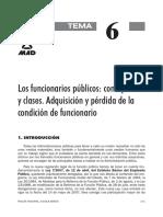 6 Los funcionarios públicos concepto y clases Adquisición y pérdida de la condición de funcionario.