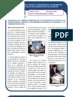 Proyecto BOL/J39-El Alto-UNODC Boletín Nº 10