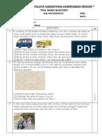 CLASS VI PISA QUESTIONS MATHS (1)