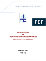 Master circular on Preparation of Financial Statements General Insurance Business