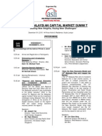 The 15th Malaysian Capital Market Summit - ASLI - Agenda
