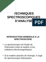 Techniques d'analyses
