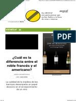 ¿Cuál es la diferencia entre el roble francés y el americano_