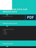 PENGOLAHAN DATA DAN ANALISA DATA