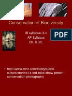 20. Conservation of Biodiversity