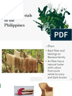 Local Materials in the Philippines
