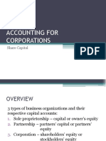 ACCOUNTING FOR CORPORATIONS-Share Capital