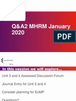 QA2 MHRM Jan 2020