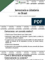Estado, democracia e cidadania no Brasil