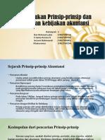 Pembentukan Prinsip-prinsip dan penetapan kebijakan akuntansi