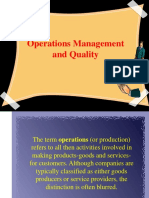 Operations Management and Quality