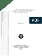 analisis kepuasan WP terhadap pelayanan samsat