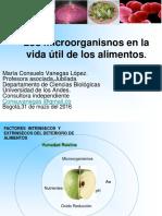 2. Memorias. Microorganismos en la vida utilde los alimentos. ppt
