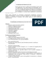 TULBURARI DE PERSONALITATE - traducere