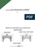 Controlul electronic al MAC -   Electronica aplicata 2019