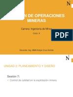 Sesión 8_Control de la Calidad en la Explotación de Minas