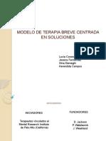 Modelo de Terapia Breve Centrada en Soluciones