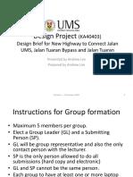 Design Project briefing - Highways Design