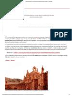 4 lugares peruanos con una arquitectura impresionante