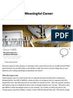 How to Build a Meaningful Career