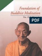 Meditation, Foundation of Buddhist -  Kalu Rinpoche(1992)
