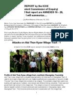 ICOE-Alai Than Kyaw 1 Attacks, Summarized