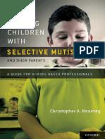 SELECTIVE MUTISM SCHOOL BASED