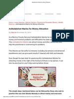 Ashtalakshmi Mantra for Money Attraction